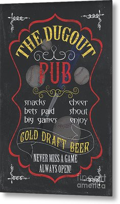 The Dugout Pub Metal Print by Debbie DeWitt
