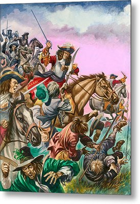 The Duke Of Monmouth At The Battle Of Sedgemoor Metal Print by Peter Jackson