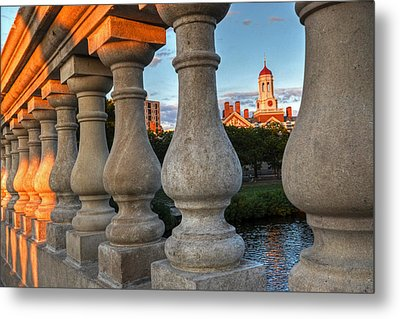 The Dunster House Through The John Weeks Bridge Harvard Square Metal Print by Toby McGuire