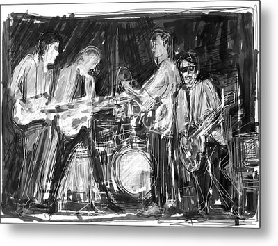 The Early Beatles Metal Print by Russell Pierce