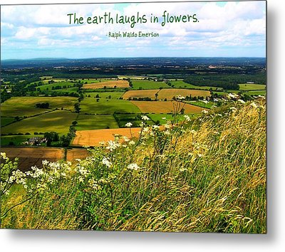 The Earth Laughs In Flowers Metal Print by Jen White