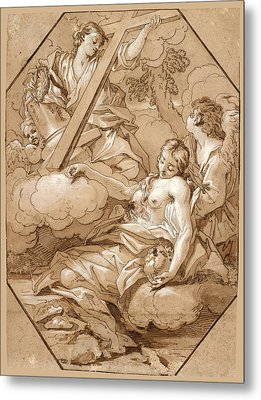 The Ecstasy Of St Mary Magdalene Metal Print