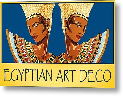The Egyptian Twins Metal Print