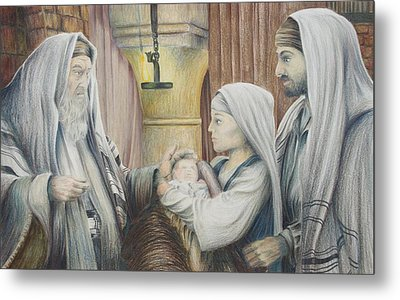 Metal Print featuring the drawing The Eighth Day by Rick Ahlvers