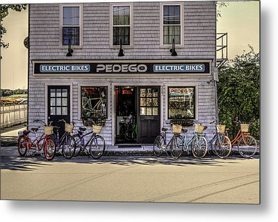 Metal Print featuring the photograph The Electric Bike Shop Bristol Ri by Tom Prendergast