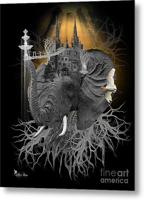 The Elephant Kingdom Metal Print