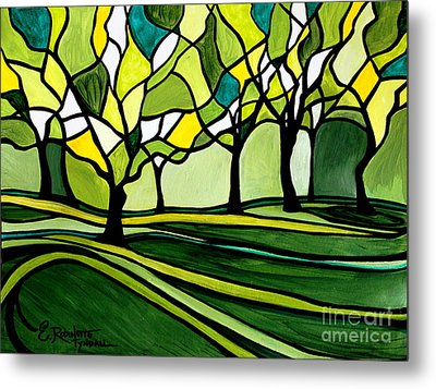 The Emerald Glass Forest Metal Print