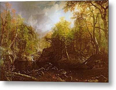 The Emerald Pool Metal Print by Albert Bierstadt
