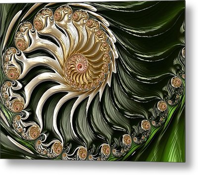 The Emerald Queen's Nautilus Metal Print by Susan Maxwell Schmidt