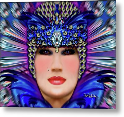 Metal Print featuring the photograph The Empress Barbaka #192 by Barbara Tristan