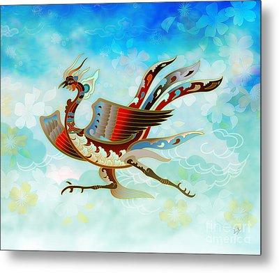 The Empress - Flight Of Phoenix - Blue Version Metal Print