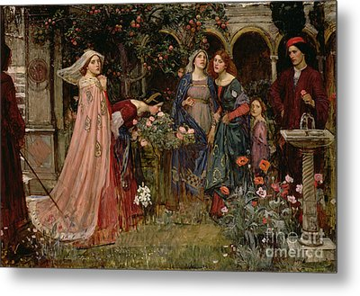 The Enchanted Garden Metal Print