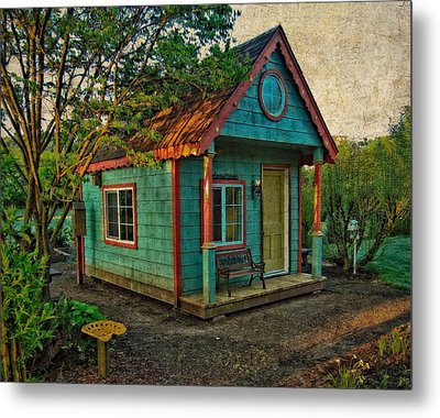 Metal Print featuring the photograph The Enchanted Garden Shed by Thom Zehrfeld