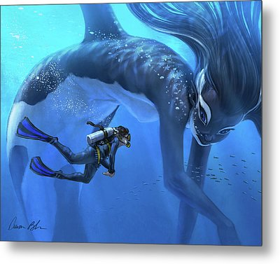 The Encounter Metal Print by Aaron Blaise