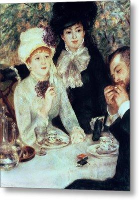 The End Of Luncheon Metal Print by Pierre Auguste Renoir