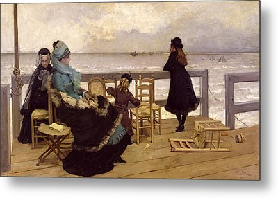 The End Of October Metal Print by Ernest Ange Duez