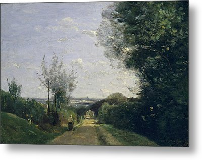 The Environs Of Paris Metal Print by Camille Corot