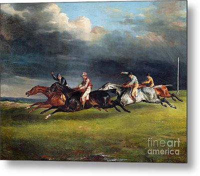 The Epsom Derby Metal Print by Theodore Gericault