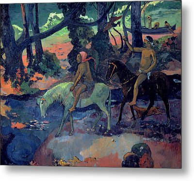 The Escape Metal Print by Paul Gauguin