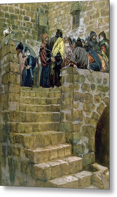 The Evil Counsel Of Caiaphas Metal Print by Tissot
