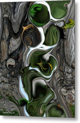 The Evolving Dimensionality Metal Print
