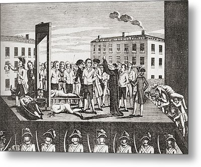 The Execution Of Jacques Pierre Metal Print by Vintage Design Pics