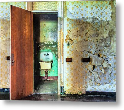 The Executive Washroom Metal Print by Dominic Piperata