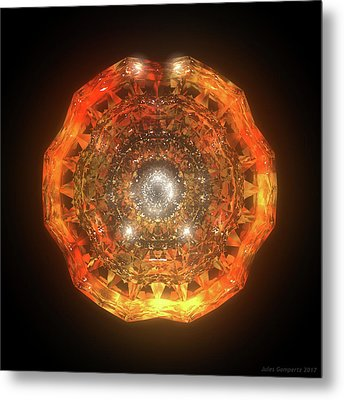 The Eye Of Cyma - Fire And Ice - Frame 160 Metal Print