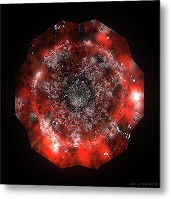 The Eye Of Cyma - Fire And Ice - Frame 49 Metal Print
