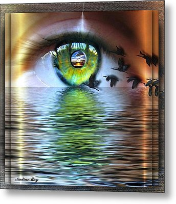 The Eye Of The Observer Metal Print by Nadine May