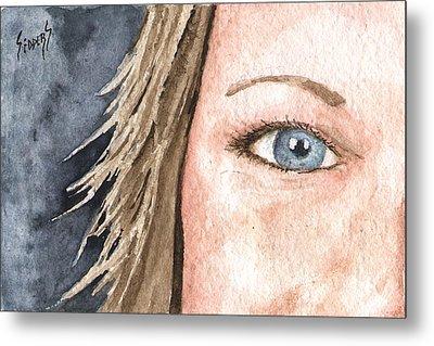 The Eyes Have It - Jill Metal Print by Sam Sidders