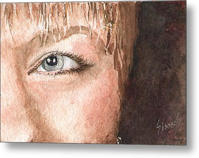 The Eyes Have It - Shelly Metal Print by Sam Sidders