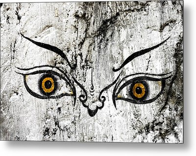 The Eyes Of Guru Rimpoche  Metal Print by Fabrizio Troiani