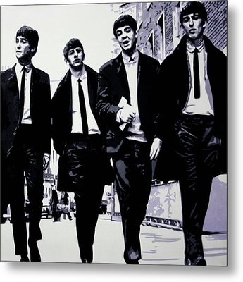 The Fab Four Metal Print