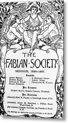 The Fabian Society Report Metal Print by Walter Crane