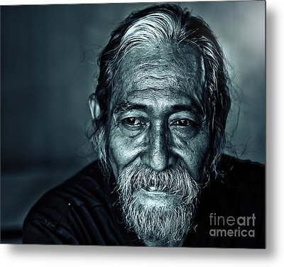 The Face Metal Print by Charuhas Images