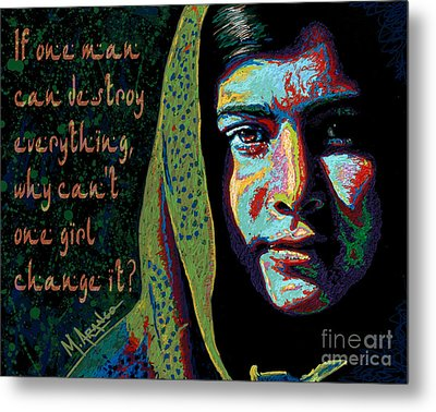 The Face Of Courage Metal Print