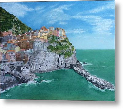 The Face Of Manarola Metal Print