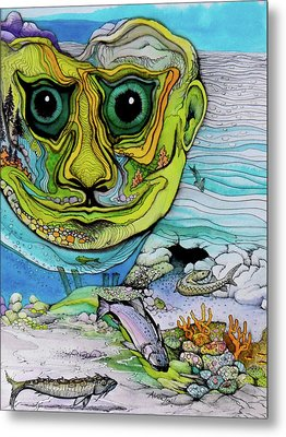The Face Of Summer Lost Metal Print