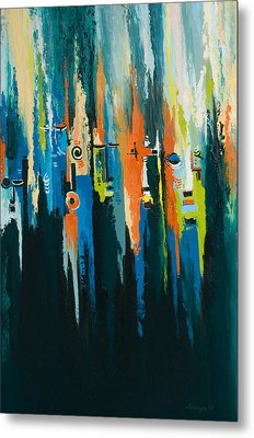The Faces Metal Print by Alfred Awonuga
