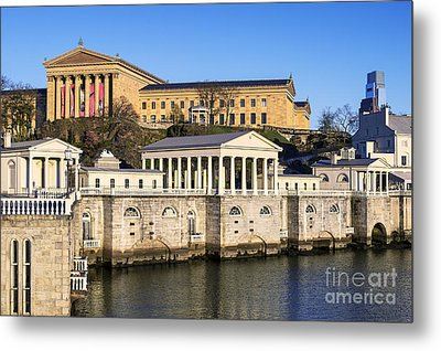 The Fairmount Water Works And Art Museum Metal Print by John Greim