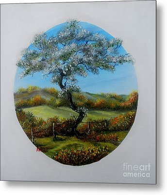 The Fairy Tree Metal Print by Avril Brand