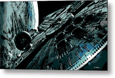 the Falcon Metal Print