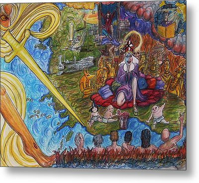 The Fall And Rise Of Jezebel Metal Print by Richard  Hubal