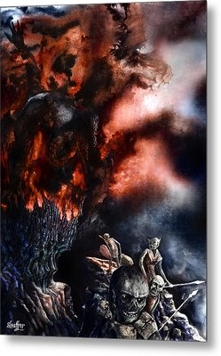 The Fall Of Azturath Metal Print by Curtiss Shaffer