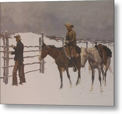The Fall Of The Cowboy Metal Print by Frederic Remington
