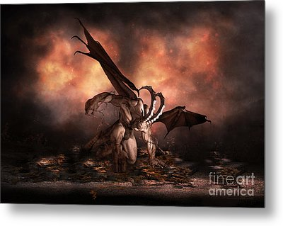 The Fallen Metal Print by Shanina Conway
