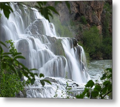 The Falls Of Fall Creek Metal Print by DeeLon Merritt
