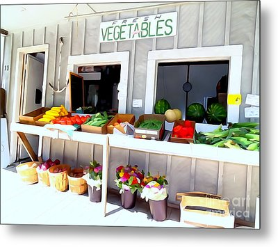 The Farm Stand Metal Print by Ed Weidman