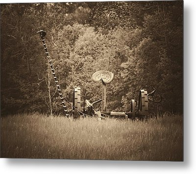 A Farmer's Field Metal Print